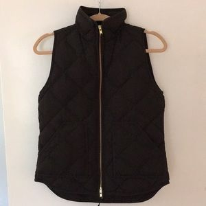 J Crew Factory Black Quilted Vest XS
